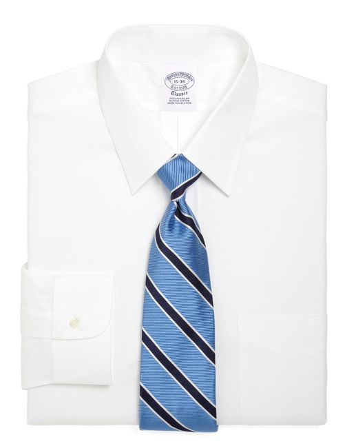 Brooks brothers regent fit forward point collar dress for Brooks brothers dress shirt fit guide