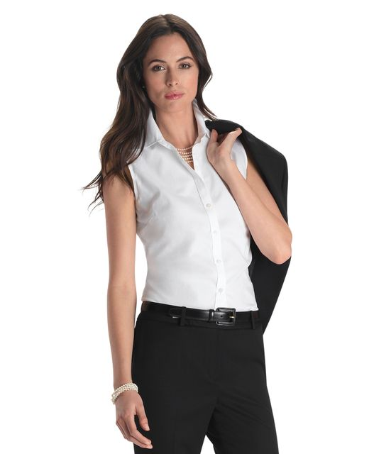 Brooks Brothers | White Non-iron Fitted Sleeveless Dress Shirt | Lyst