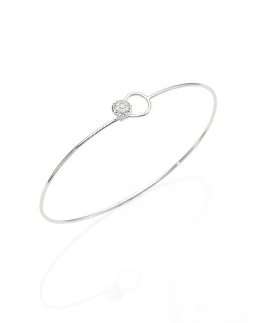Phillips House | Metallic Love Always Diamond & 14k White Gold Wire Bangle Bracelet | Lyst