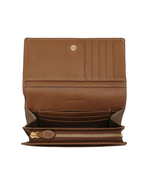 Mulberry | Brown Tree French Purse | Lyst