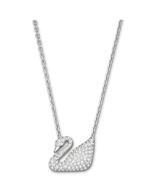 Swarovski | White Swan Necklace | Lyst