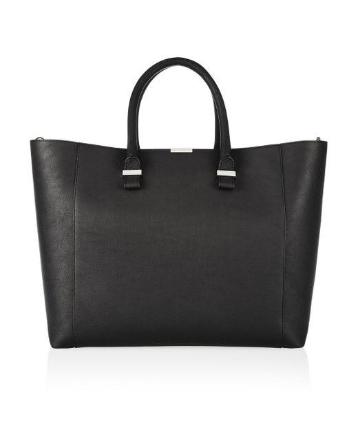 Victoria Beckham | Black Liberty Leather Tote | Lyst