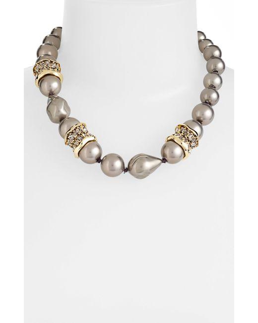 Alexis Bittar   Metallic Miss Havisham Shell Pearl Necklace   Lyst