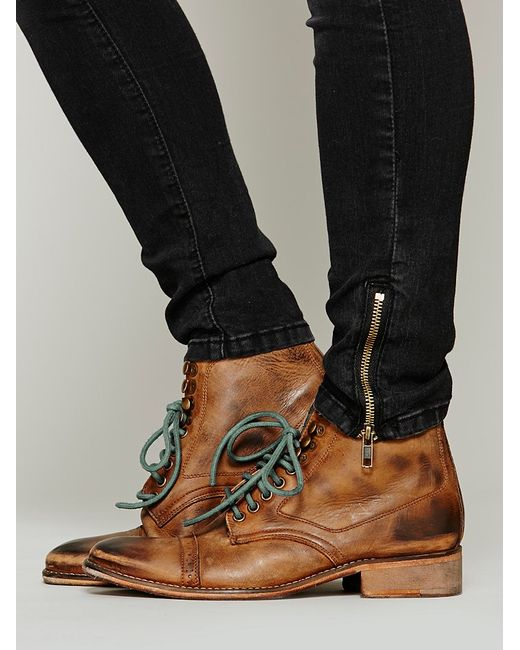 free king ranch ankle boot in brown chocolate lyst