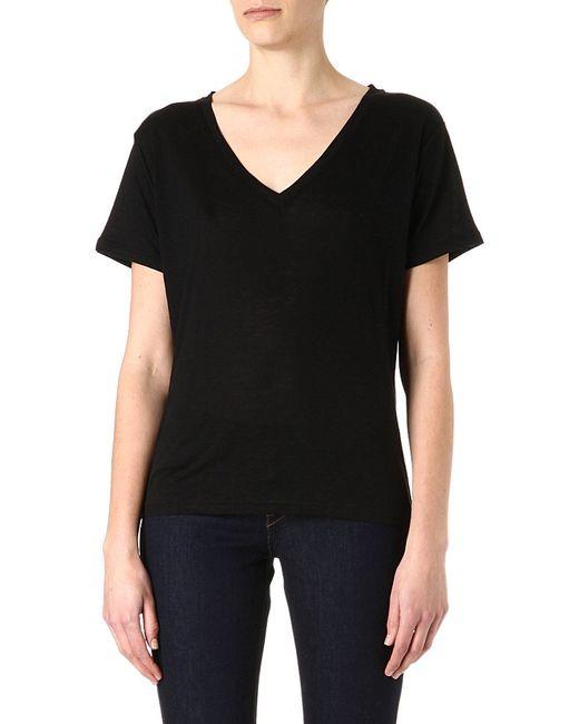 J Brand | Black Janis V-neck T-shirt | Lyst