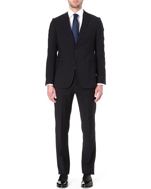 Armani | Blue Virgin Wool Single-breasted Suit for Men | Lyst
