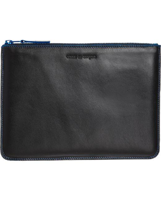 Comme des Garçons | Blue 'marvellous' Leather Zip-up Pouch | Lyst