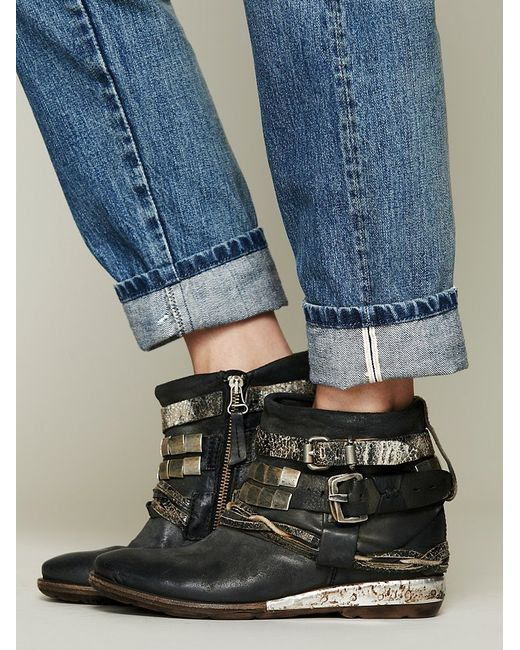 Free People | Black Painted Bird Western Boot | Lyst
