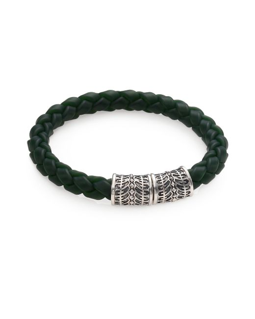 Stephen Webster | Gray Sterling Silver Woven Rubber Bracelet for Men | Lyst