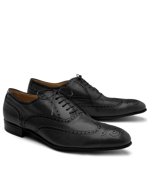 Brooks Brothers | Black Lightweight Wingtips for Men | Lyst