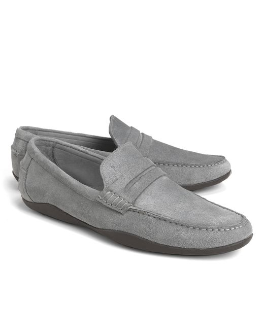 Brooks Brothers | Gray Harrys Of London® Basel Penny Loafers for Men | Lyst