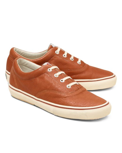 Brooks Brothers | Brown Superga® Leather Sneakers for Men | Lyst