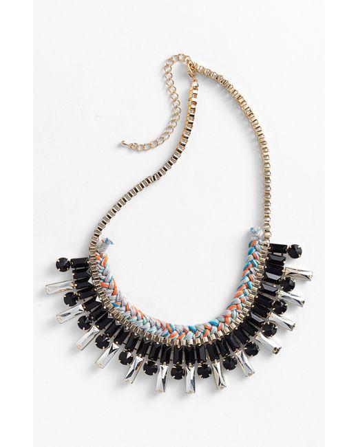 Panacea | Black Braided Necklace | Lyst