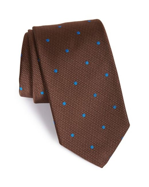 Robert Talbott | Brown Best Of Class Dot Silk Tie for Men | Lyst