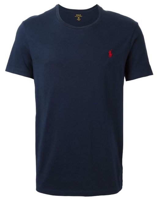 polo ralph lauren crew neck t shirt in blue for men lyst. Black Bedroom Furniture Sets. Home Design Ideas