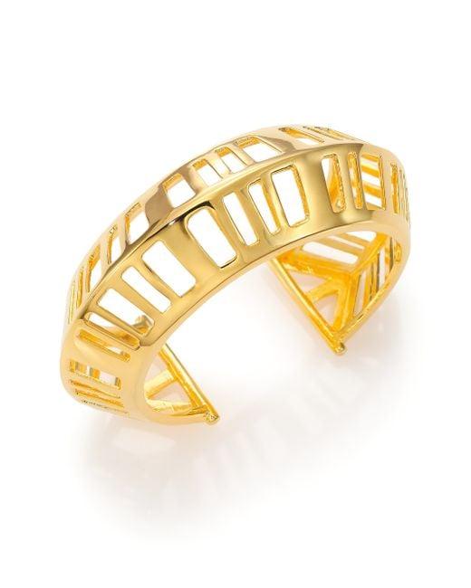 Nest   Metallic Cage Cuff Bracelet   Lyst
