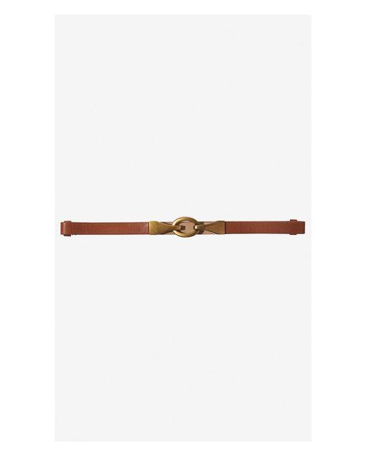 Express | Brown Adjustable Hook Close Belt | Lyst