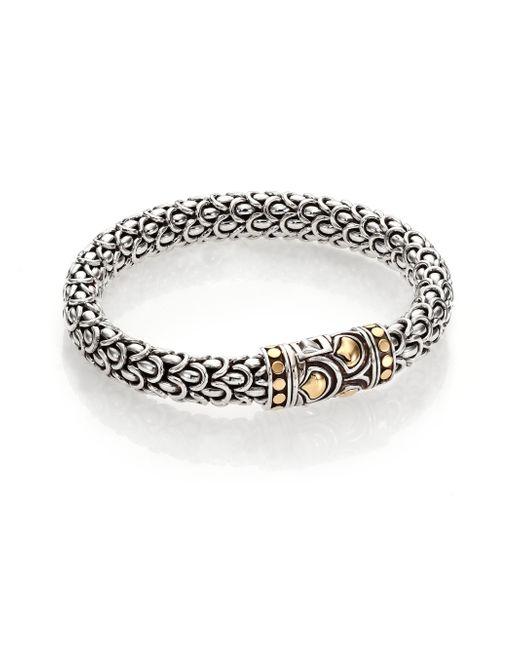 John Hardy | Metallic Naga 18k Yellow Gold & Sterling Silver Chain Bracelet | Lyst