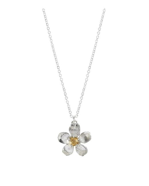 Alex Monroe | Metallic Citrine Buttercup Necklace | Lyst