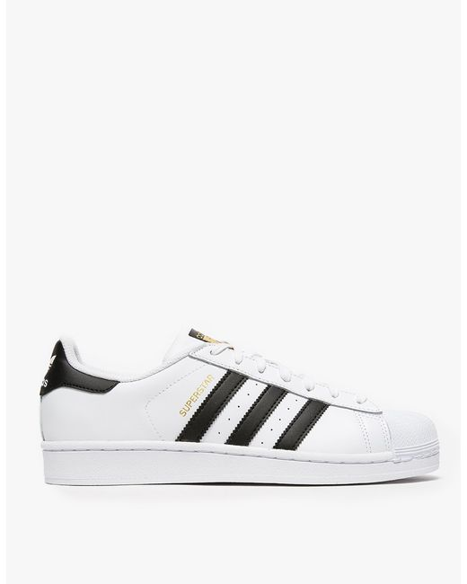 Adidas Originals | White Superstar Leather Sneakers | Lyst