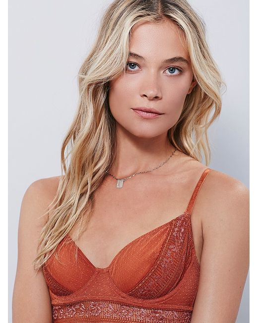 Free People | Orange Get Off My Cloud Underwire Bra Get Off My Cloud Undie | Lyst
