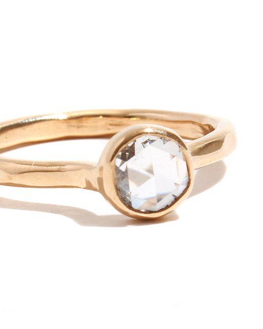 Melissa Joy Manning | Metallic .57 Carat Clear Round Rosecut Diamond Ring | Lyst