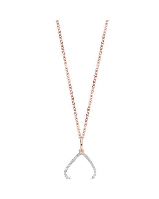 Monica Vinader | Pink Riva Diamond Hoop Pendant | Lyst