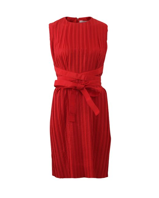 Victoria, Victoria Beckham   Red Cross Strap Washed Taffeta Dress   Lyst