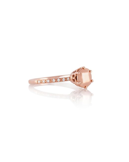 Anna Sheffield | Pink Hazeline Rose Gold Solitaire Ring | Lyst
