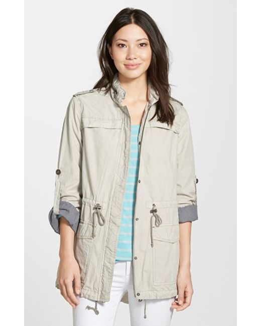 Levi's | Green Levi's Lightweight Cotton Hooded Utility Jacket | Lyst