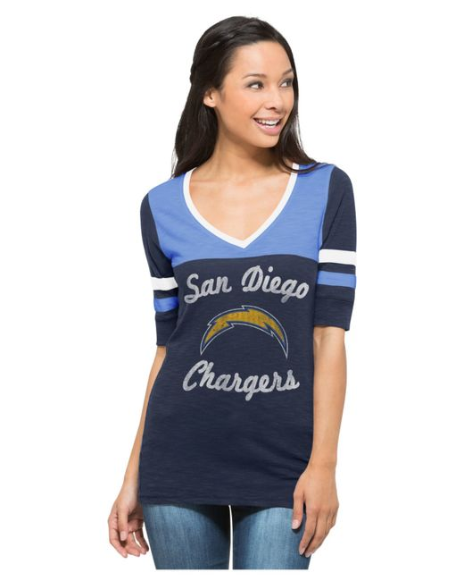 San Diego Chargers Clothing: 47 Brand Women's San Diego Chargers Gameday Debut T-shirt
