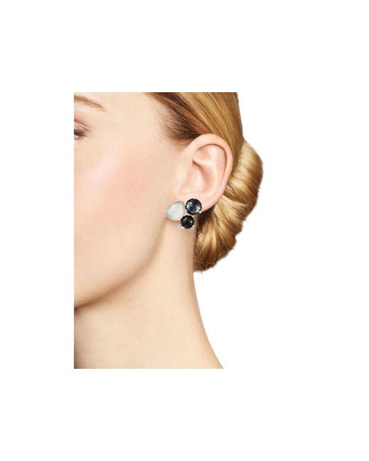 Ippolita   Multicolor Sterling Silver Rock Candy® Cluster Stud Earrings In Black Tie   Lyst