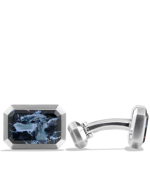David Yurman | Blue Heirloom Cufflinks With Pietersite for Men | Lyst