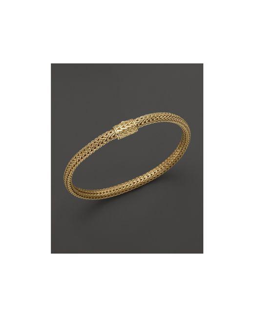 John Hardy | Metallic Classic Chain 18k Yellow Gold Extra Small Bracelet | Lyst