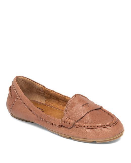 Lucky Brand | Brown Feverton Leather Loafers | Lyst