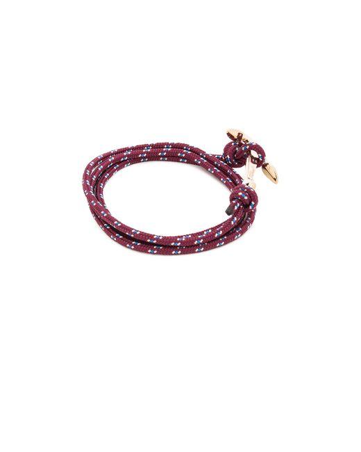 Miansai | Purple Gold Anchor On Rope | Lyst