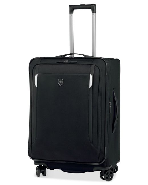"Victorinox | Black Victorinox Werks Traveler 5.0 24"" Expandable Dual Caster Spinner Suitcase for Men 