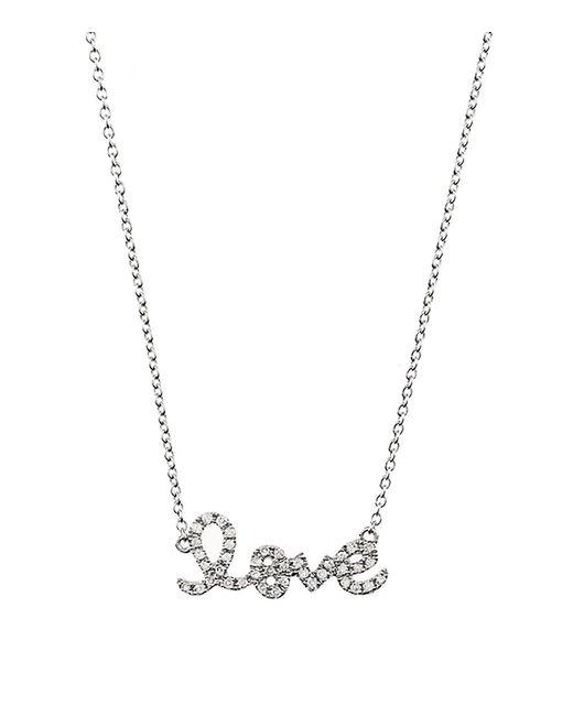 Sydney Evan | Metallic Love Script Necklace | Lyst