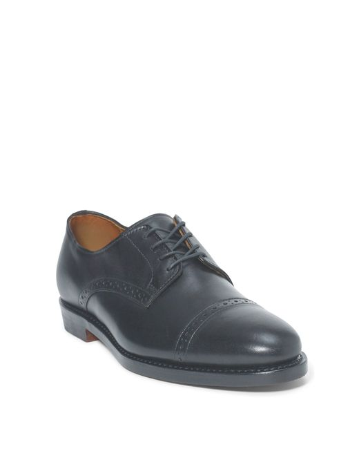 Polo Ralph Lauren | Blue Slaton Burnished Calfskin Shoe for Men | Lyst