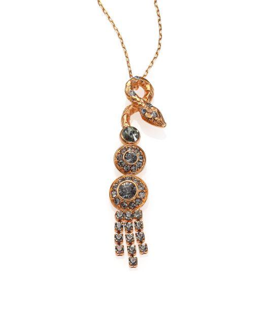 House of Lavande | Metallic Serpent Crystal Tassel Pendant Necklace | Lyst