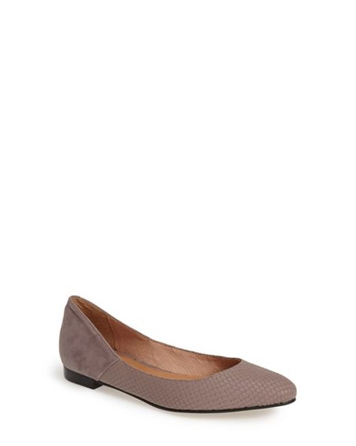 Corso Como | Gray 'morrison' Pointy Toe Flat | Lyst