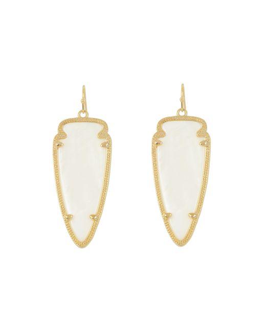Kendra Scott | White Skylar Earring | Lyst