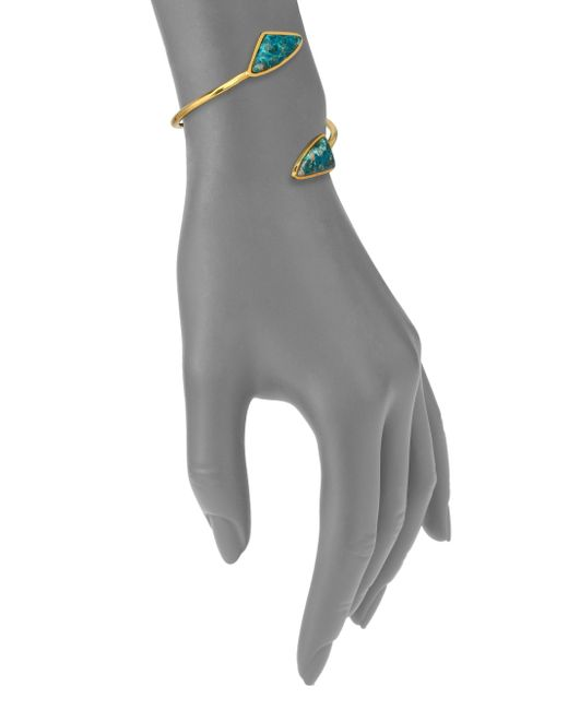 Lizzie Fortunato | Metallic Atlas Chrysocolla Cuff Bracelet | Lyst