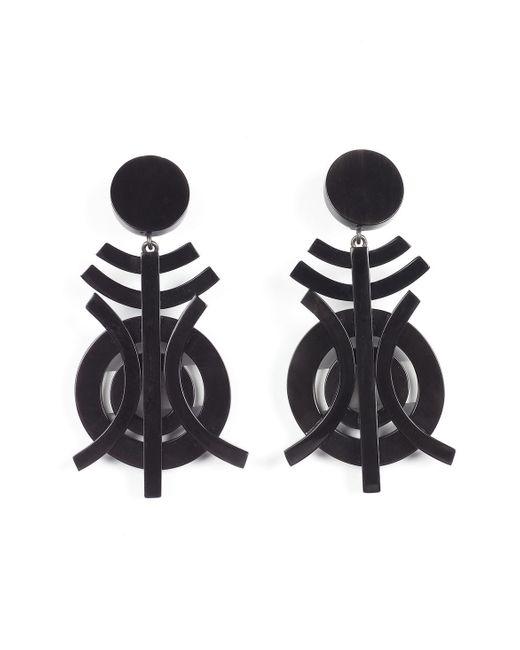 Natori | Black Horn Geo Earrings | Lyst