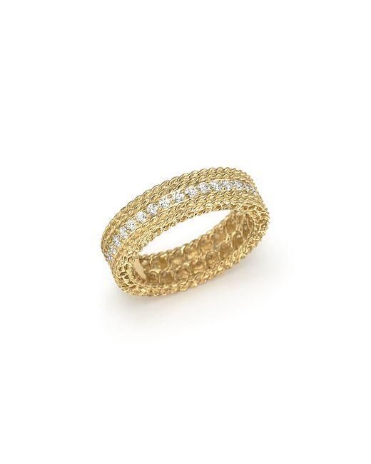 Roberto Coin | Metallic 18k Yellow Gold Symphony Braided-edge Ring | Lyst