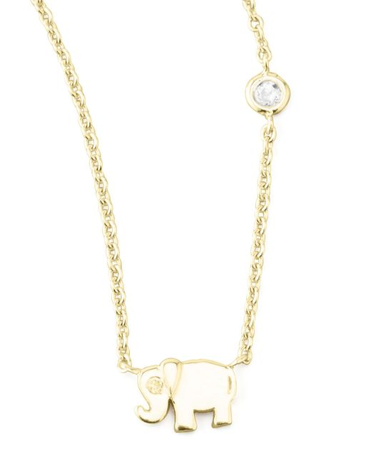 Shy By Sydney Evan | Metallic Elephant Pendant Bezel Diamond Necklace | Lyst