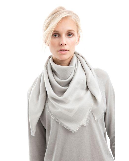 iris von arnim tuch dakini in gray silber lyst. Black Bedroom Furniture Sets. Home Design Ideas