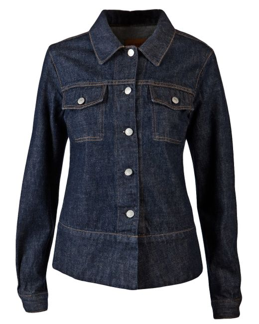 Helmut Lang | Blue Faux Fur Collar Denim Jacket | Lyst