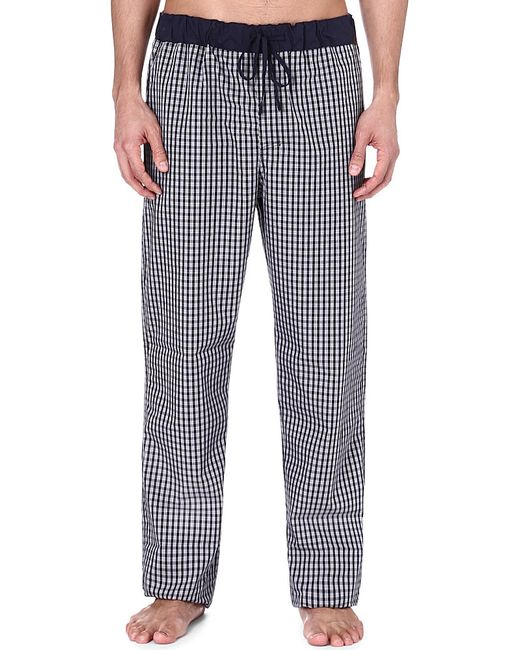 Hanro | Black Checked Cotton Trousers | Lyst