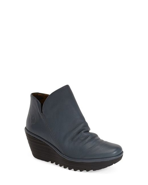 Fly London   Blue 'yip' Wedge Bootie   Lyst